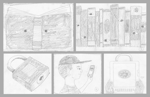 ken orvidas - school library journal sketches