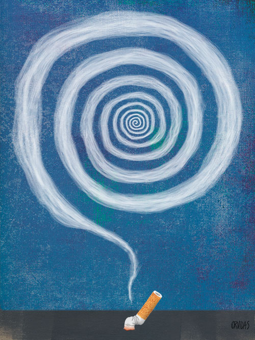 Hypnosis for Rhode Island Monthly by Ken Orvidas