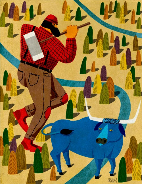 Paul Bunyan by Ken Orvidas